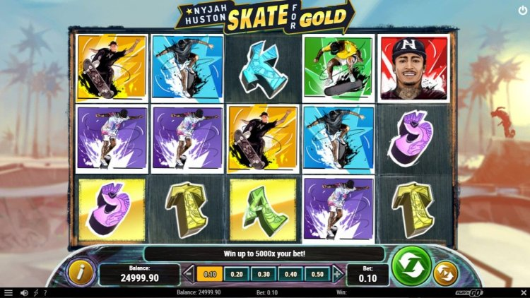 Скриншот слота Nyjah Huston - Skate for Gold