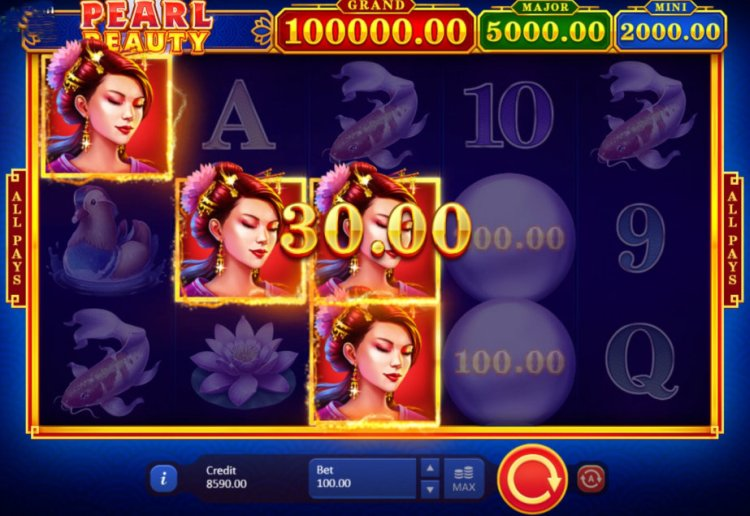 Скриншот слота Pearl Beauty Hold and Win